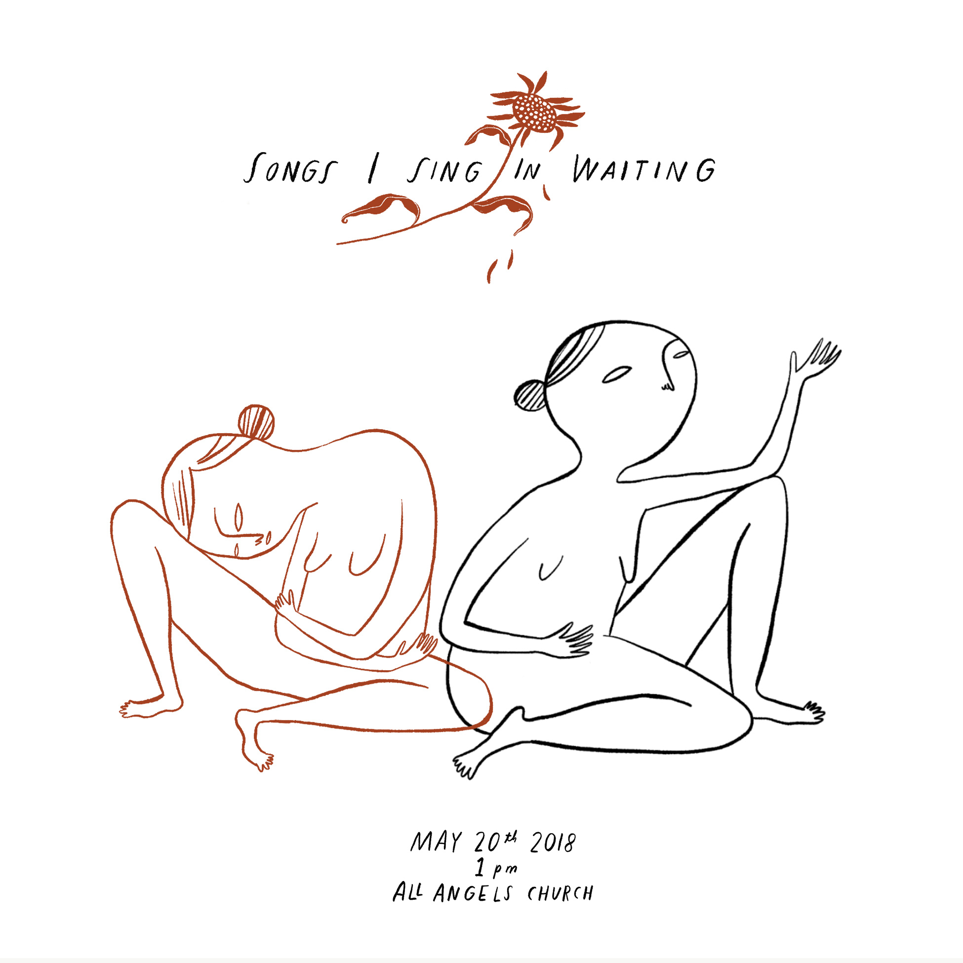 Songs I Sing In Waiting - program cover