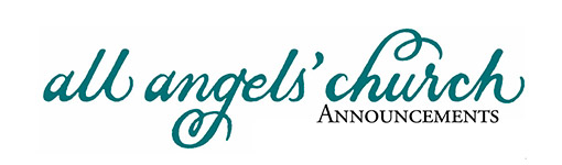 announcements all angels church